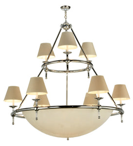"60""W Messina 2 Tier Contemporary Chandelier 