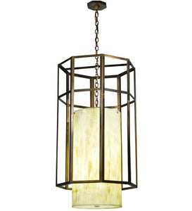 "23.5""W Cilindro Caged Contemporary Pendant"
