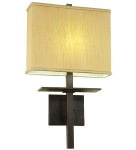 "14""W Atria Contemporary Fabric Wall Sconce"