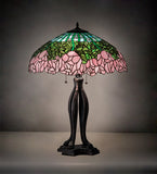"30""H Cabbage Rose Table Lamp"