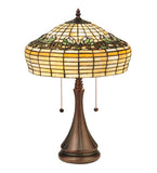 "21.5""H D & K Raised Tulip Tiffany Floral Table Lamp"