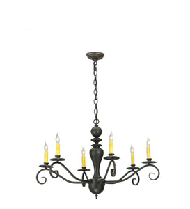 "33""W Emory 6 Lt Mission Chandelier"