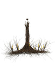 "100""W Twigs 10 Lt Rustic Lodge Chandelier"