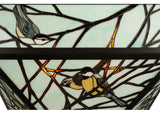 "20.5""Sq Backyard Friends Wildlife Stained Glass Flushmount"