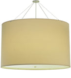 "48""W Cilindro Natural Textrene Contemporary Fabric Pendant 
