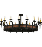 "60""W Costello 16 Lt Gothic Lodge Chandelier"