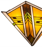 "11.5""W Abilene Mission Stained Glass Wall Sconce"