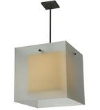 "17.5""Sq Quadrato Shadow Box Contemporary Pendant"
