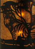 "12""W Zebra  Wildlife Left Wall Sconce"