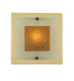 "12""Sq Metro Fusion Bullion Fused Glass Contemporary Wall Sconce"