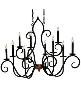 "43""L Clifton 10 Lt Oblong Victorian Chandelier"