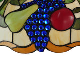 "20""W Fruit Stained Glass Ceiling Pendant"