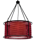 "24""W Maille Drum Contemporary Ceiling Pendant"