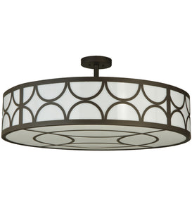 "36""W Revival Deco Cilindro Contemporary Semi-Flushmount 