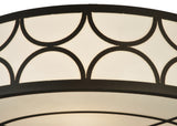 "36""W Revival Deco Cilindro Contemporary Semi-Flushmount"