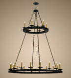 "61""W Loxley 24 Lt Two Tier Lodge Gothic Chandelier"