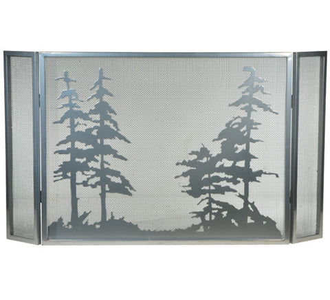 "50""W X 28""H Tall Pines Folding Fireplace Screen"
