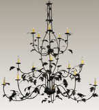 "72""W Oak Leaf 15 Lt Lodge Chandelier"