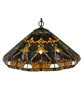 "20""W Middelton Stained Glass Victorian Pendant 