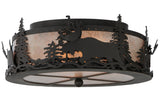 "17""W Wildlife Moose Flushmount"