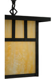 "9""Sq Hyde Park Double Bar Mission Outdoor Pendant"