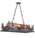 "50""L Deer At Dusk Wildlife Island/Billiard Oblong Pendant 