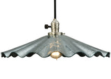 "18""W Metro Fusion Galatia Scalloped Faux Mercury Coated Seedy Pendant"