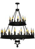"48""W Yosemite 27 Lt Two Tier Gothic Chandelier"