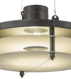 "24""W Atlantis Contemporary Industrial Pendant"