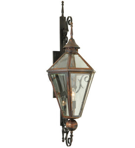 "14""W Millesime Clear Lantern Outdoor Wall Sconce"