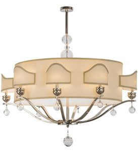 "50""L Helena 8 Arm Oblong Victorian Glam Chandelier"