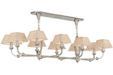 "58""L Cesta 10 Lt Contemporary Fabric Oblong Chandelier"