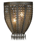 "16.5""W Chrisanne W/Crystals Glam Wall Sconce"