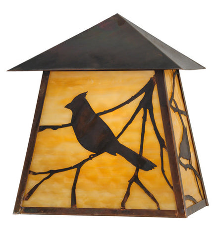 "12""W Stillwater Song Bird Outdoor Wall Sconce"