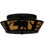 "16""W Bear Wildlife Flushmount"