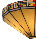 "14.5""W Arizona Southwest Stained Glass Wall Sconce"