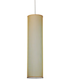 "10""W Cilindro Honey Bombay Textrene Contemporary Pendant"