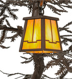 "45""W Pine Branch Valley View 6 Lt Lodge Chandelier"