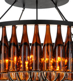 "38""W Tuscan Vineyard Estate 36 Wine Bottle Chandelier"