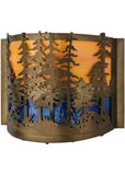 "11.5""W Tall Pines Wall Sconce"