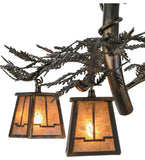 "24""W Pine Branch Valley View Rustic Lodge 3Lt Chandelier"