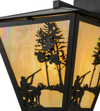 "15""W Quail Hunter W/Dog Outdoor Wall Sconce"