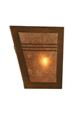 "13""W Triangulator Mission Wall Sconce"