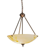 "20""W Corinth White Marble Traditional Inverted Pendant"