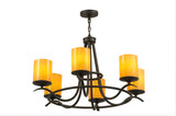 "39""W Octavia 6 Lt Lodge Chandelier"