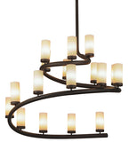 "60""W French Horn 17 Lt Contemporary Chandelier"