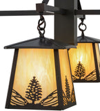 "38""W Mountain Pine 4 Lt Chandelier"