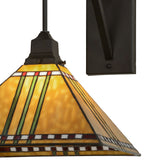 "13""W Prairie Corn Stained Glass Wall Sconce"