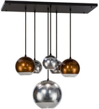 "36""L Bola Metalica 6 Lt Contemporary Glam Pendant"
