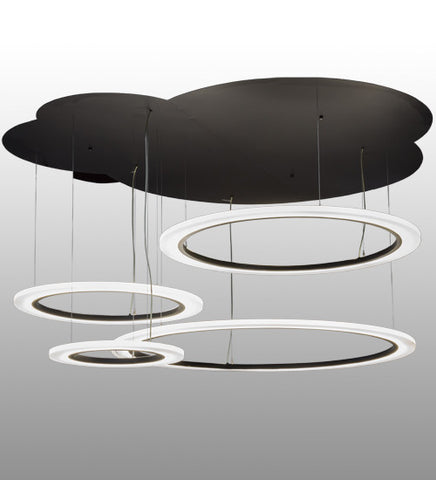 "84""W Anillo LED Cascading Contemporary Pendant"